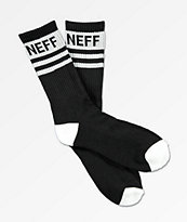 Neff Stripe Black & White Crew Socks