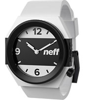 Neff Stripe White & Black Analog Watch