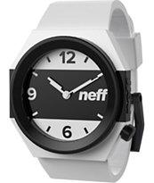 Neff Stripe White & Black Analog Watch