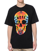 Neff Tie Dye Death Black Tee Shirt