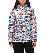 Neff Wonder White Print 10K Girls Snowboard Jacket 2014