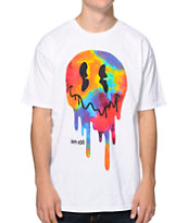 Neff X Aoki Drop Smiling White & Tie Dye Tee Shirt