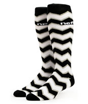Neff Zag Black & White Snowboard Socks