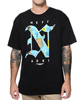Neff x Aoki Big Steve Crystal Black Tee Shirt