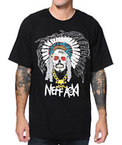 Neff x Aoki Chief Black Tee Shirt