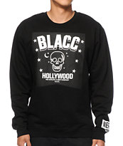 Neff x Blacc Hollywood Blacc Skulls & Stars Crew Neck Sweatshirt
