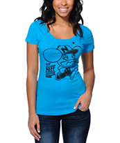 Neff x Deadmau5 1 Up Turquoise Scoop Neck T-Shirt