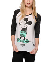 Neff x Disney Mickey Shrug Life Baseball T-Shirt