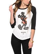 Neff x Disney Mickey Swag Baseball T-Shirt