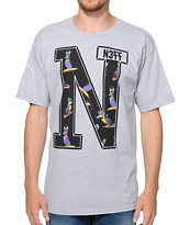 Neff x Mac Miller N Grey Tee Shirt