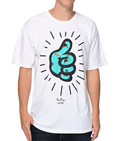 Neff x Mac Miller Thumbs White Tee Shirt