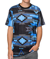 Neff x Mac Miller Tribal Print Sublimated Blue Tee Shirt