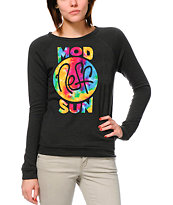 Neff x Mod Sun Tie Dye Girls Black Crew Neck Sweatshirt
