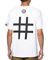 Neff x NBA Brooklyn Number White Tee Shirt