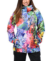 Nike Alpenglow Blue Printed 10K Girls Snowboard Jacket 2014
