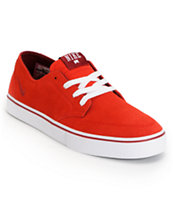 Nike Braata LR University Red, Team Red & White Suede Skate Shoe