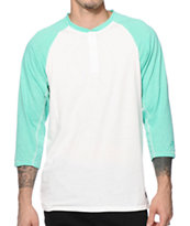 Nike Dri-Fit Speckle Henley Baseball Tee Shirt