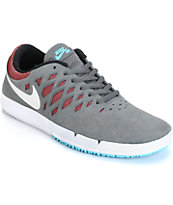 Nike Free SB Dark Grey, White, & Team Red Shoes