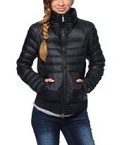Nike Girls 800 Black Down Jacket