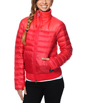 Nike Girls 800 Red Down Jacket