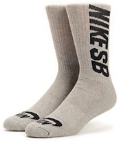 Nike SB 3 Pack Heather Grey Crew Socks