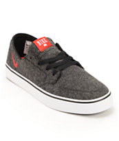 Nike SB Braata LR Premium Black, University Red, & White Wool Shoe