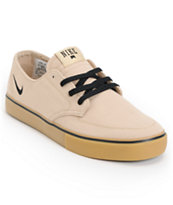 Nike SB Braata LR Tan & Gum Canvas Skate Shoe