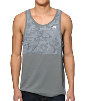 Nike SB Camo Blocked Dri-Fit Grey Tank Top