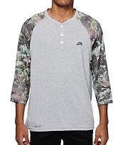 Nike SB Dri-Fit Fern Henley Baseball T-Shirt