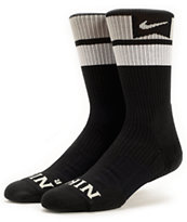 Nike SB Elite Dri-Fit Black & Yellow Striped Crew Socks