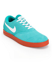 Nike SB Eric Koston 2 Lunarlon Turbo Green, White, & Rust Skate Shoe