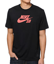 Nike SB Icon Leopard Dri-Fit Black Tee Shirt