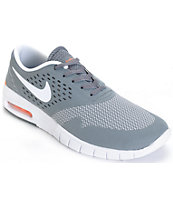 Nike SB Koston 2 Max Anthracite, White, & Orange Shoes