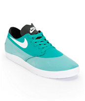 Nike SB Lunar One Shot Turbo Green, White, & Black Shoe
