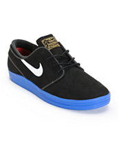 Nike SB Lunar Stefan Janoski Black & Blue Skate Shoes