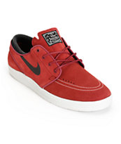 Nike SB Lunar Stefan Janoski Team Red & Black Skate Shoes