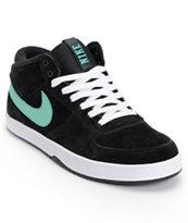 Nike SB Mavrk Mid 3 Black & Mint Suede Skate Shoe