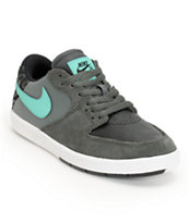 Nike SB P-Rod 7 Dark Base Grey, Crystal Mint, & Black Boys Shoe