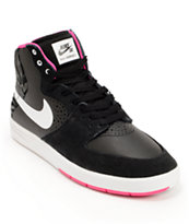 Nike SB P-Rod 7 High Black, Pink Foil, & White Shoe