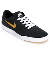 Nike SB Paul Rodriguez 9 CS Black & Metallic Gold Skate Shoes