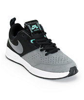 Nike SB Project BA Black, Dark Grey, & Crystal Mint Skate Shoes