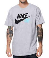 Nike SB QT Heather Grey Tee Shirt