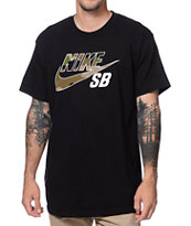 Nike SB QT Icon Camo Black Tee Shirt