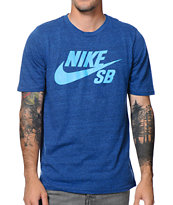 Nike SB QT Icon Tri-Blend Blue Tee Shirt