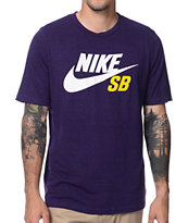 Nike SB QT Icon Tri-Blend Purple Tee Shirt