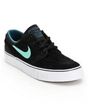 Nike SB Stefan Janoski GS Black, Crystal Mint, & Night Factor Boys Shoe