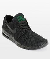Nike SB Stefan Janoski Max Black & Pine Mesh Skate Shoes