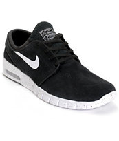Nike SB Stefan Janoski Max Black & White Skate Shoes