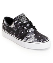 Nike SB Zoom Janoski GS Black & White Print Boys Shoe