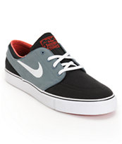 Nike SB Zoom Stefan Janoski Black, Armory Navy, White & University Red Canvas Skate Shoe